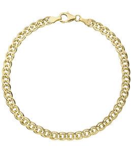 Aurora Patina Gouden tweeling schakel armband 21 cm
