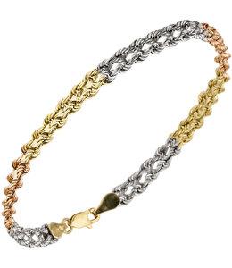 Aurora Patina Gouden armband in drie kleuren (375)
