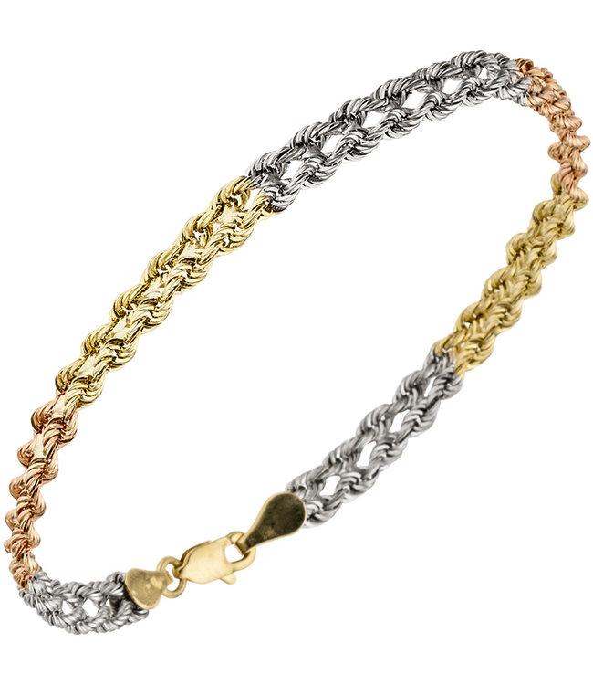 JOBO Gold bracelet in three colors 9 karaat (375)