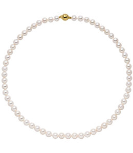 JOBO Akoya pearl necklace 43 cm 7 mm gold plated