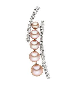 Aurora Patina Weißgoldanhänger mit 6 Perlen und 33 Brillanten
