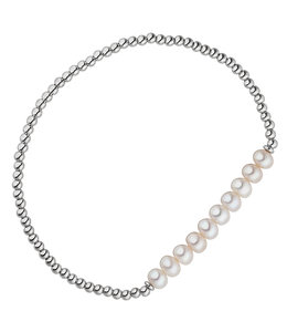 JOBO Sterling  silver bracelet with pearls