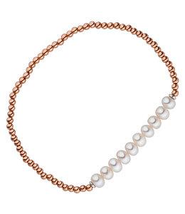JOBO Rood vergulde zilveren armband met parels
