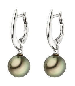 JOBO White gold earrings with Tahiti pearls