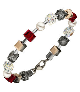 Aurora Patina Stainless steel bracelet crystal and pearls