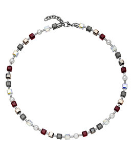 JOBO Stainless steel necklace crystal and pearls