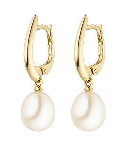 Aurora Patina Gold earrings with freshwater pearls