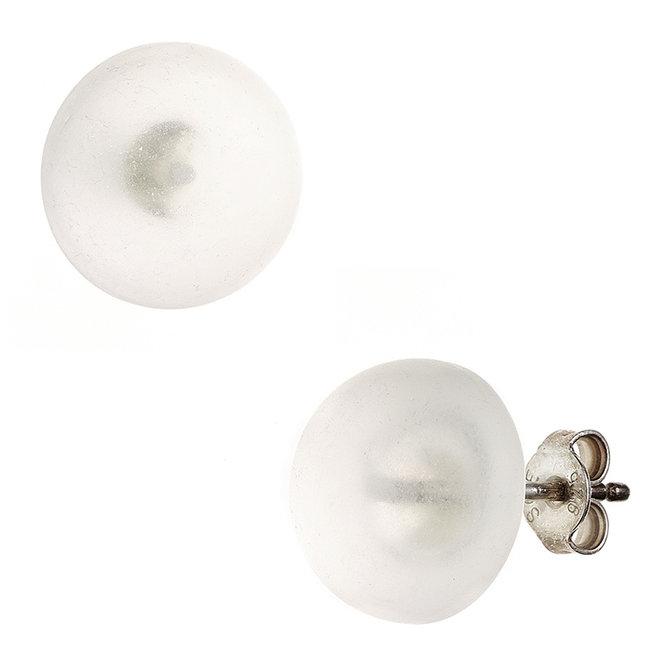 Zilveren oorstekers met Bergkristal ca. 12 mm