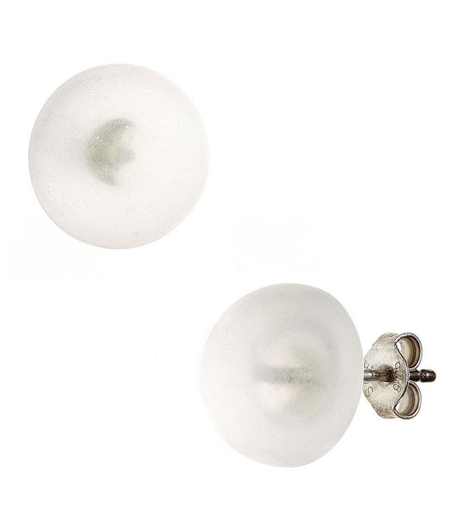 Aurora Patina Zilveren oorstekers met Bergkristal ca. 12 mm