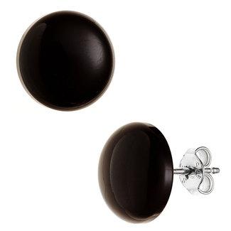 Aurora Patina Zilveren oorstekers Onyx ca. 12 mm