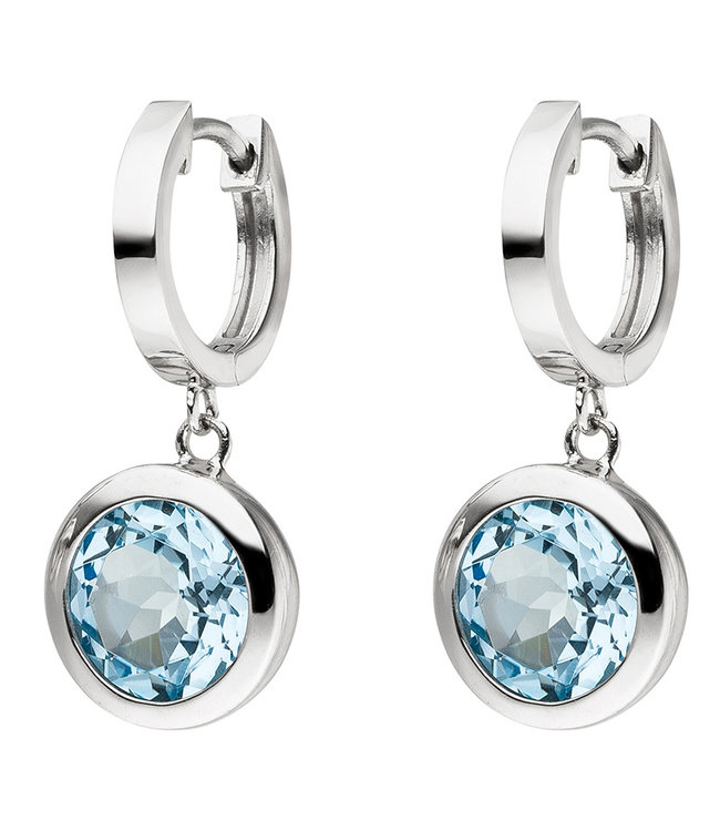 Aurora Patina Sterling silver earrings 925 with blue topazes