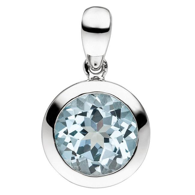 Kettinghanger 925 sterling zilver met blauwtopaas