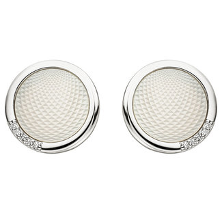 Aurora Patina Zilveren oorstekers met parelmoer en zirkonia