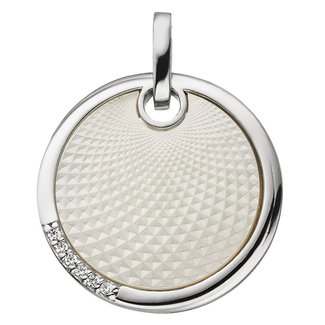 Aurora Patina Silver pendant with mother of pearl and zirconia