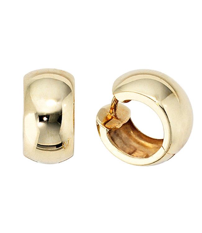 Aurora Patina Gouden creolen 333 oorbellen 14 mm