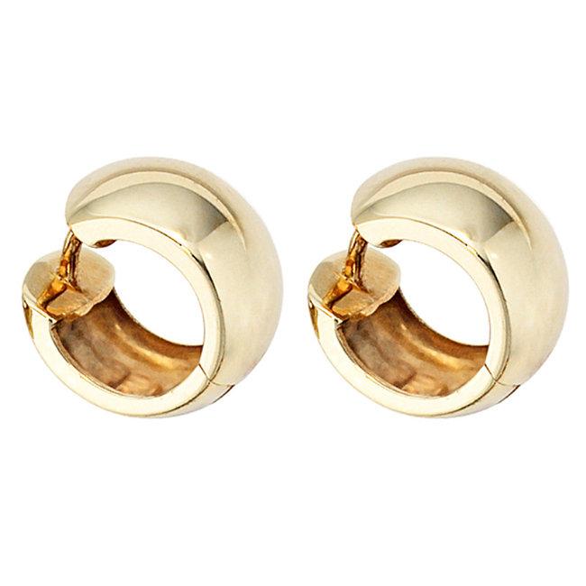 Gold creoles 333 earrings 14 mm
