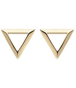 Aurora Patina Gouden oorstekers driehoek