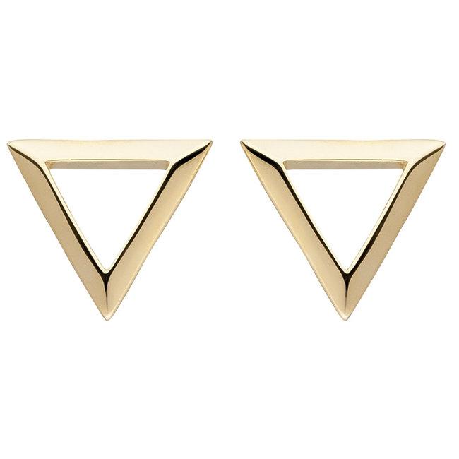 Golden ear studs triangle 8 carat (333)