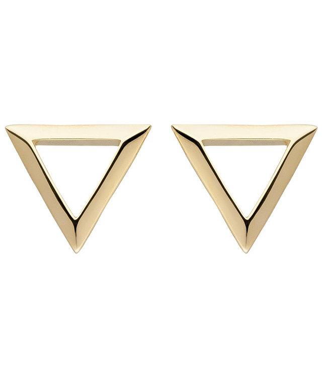 Aurora Patina Gouden oorstekers driehoek 8 karaat (333)