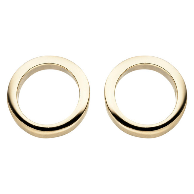 Golden ear studs circle 8 carat (333)