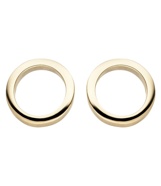 Aurora Patina Gouden oorstekers cirkel 8 karaat (333)