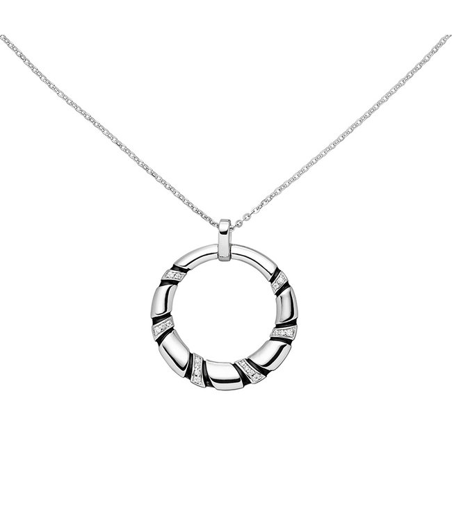 Aurora Patina Sterling silver pendant with zirconia