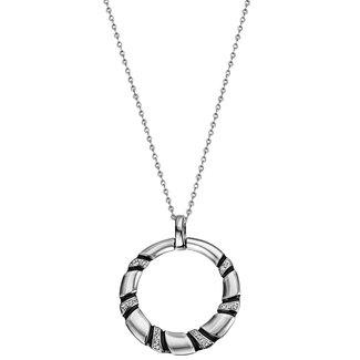 Aurora Patina Silver pendant with zirconia