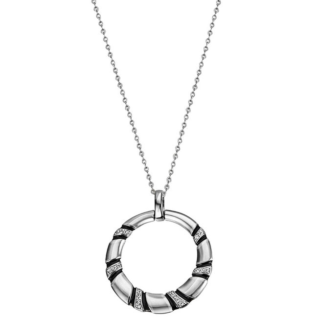 Sterling silver pendant with zirconia