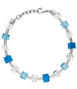 Aurora Patina Stainless steel bracelet crystal, turquoise and hematite