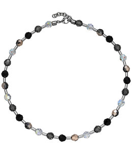 Aurora Patina Stainless steel necklace crystals and gemstones