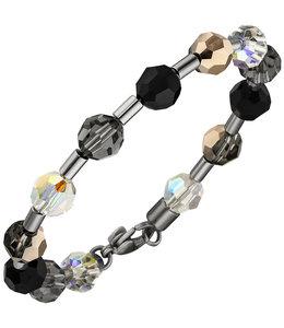 Aurora Patina Edelstaal armband kristal en edelsteen