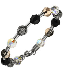 Aurora Patina Stainless steel bracelet crystal and gemstone