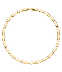 Aurora Patina Stainless steel necklace with yellow gold PVD coating