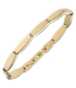 Aurora Patina Edelstaal armband met geelgouden PVD coating