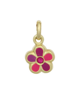 Aurora Patina Anhänger Rosa Blume Gold Kinder