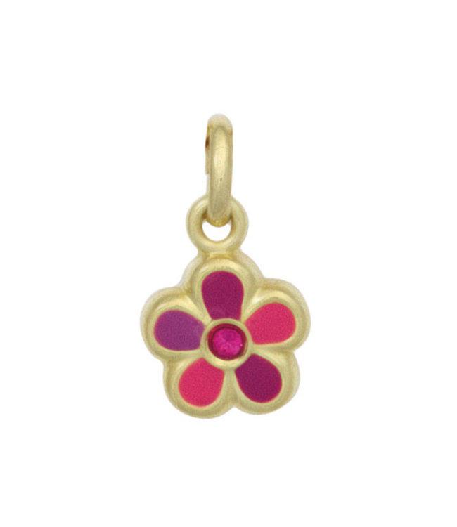 Aurora Patina Anhänger Rosa Blume Gold Kinder 333 Gold