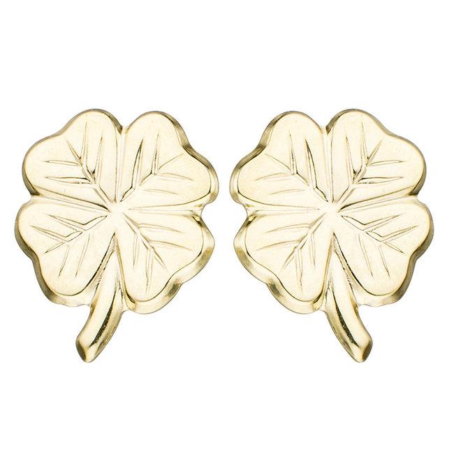 Aurora Patina Golden ear studs lucky-four-leaf clover kids
