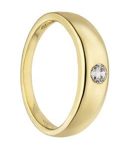 Aurora Patina Gold christening pendant 8 carat with zirconia