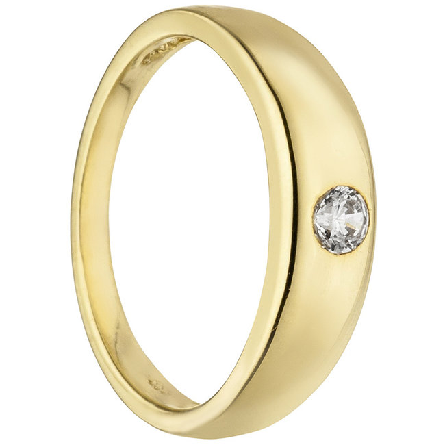 Christening ring or Pendant 333 Gold with Zirconia