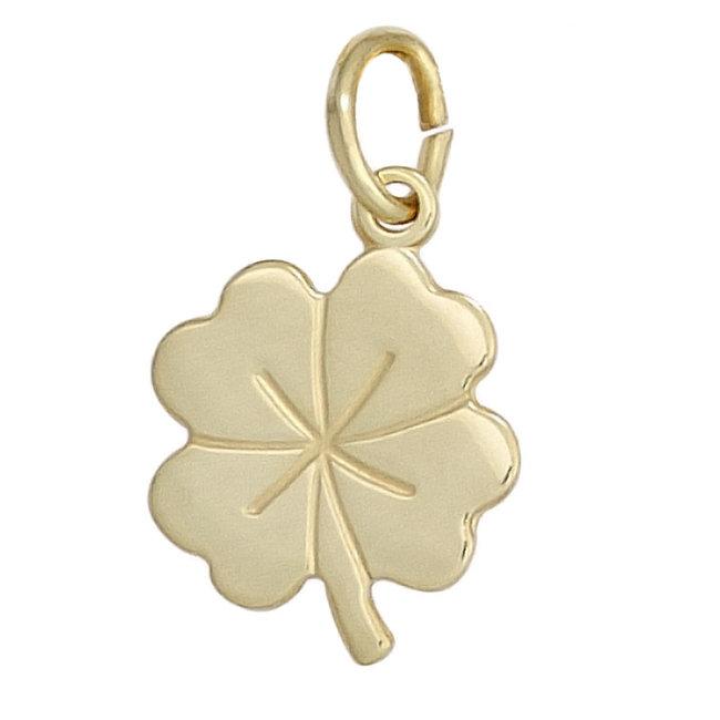 Gold pendant four-leaf clover kids 8 carat gold 333