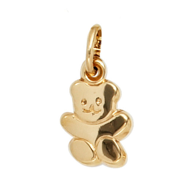 Gold pendant with Teddy bear for children