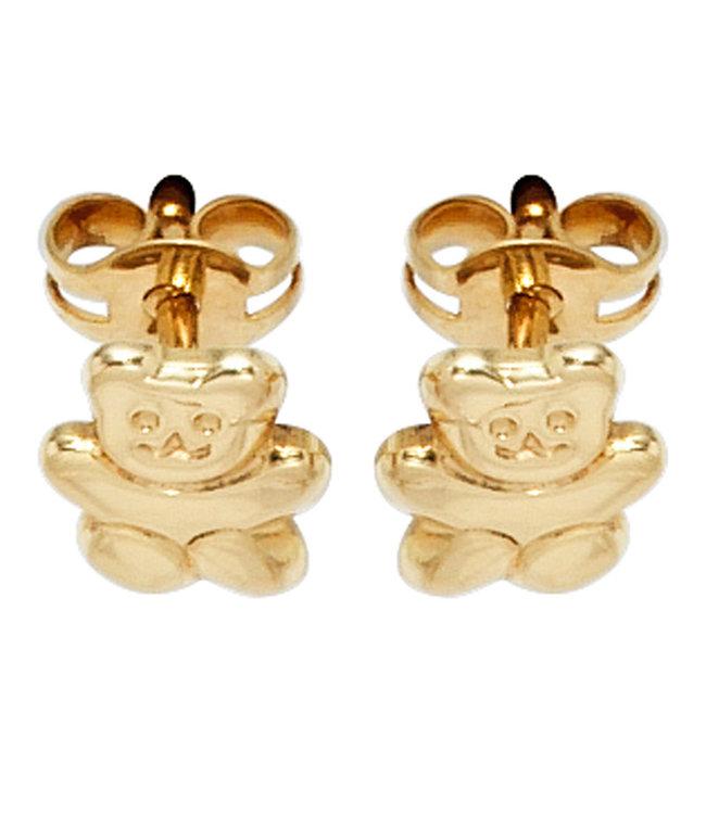 Aurora Patina Gouden oorstekers Teddybeer voor kinderen