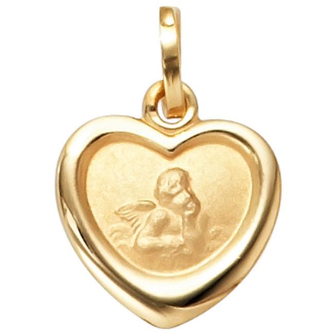 Golden pendant guardian angel for kids 8 carat