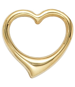Aurora Patina Gouden hanger Hartje 585 goud