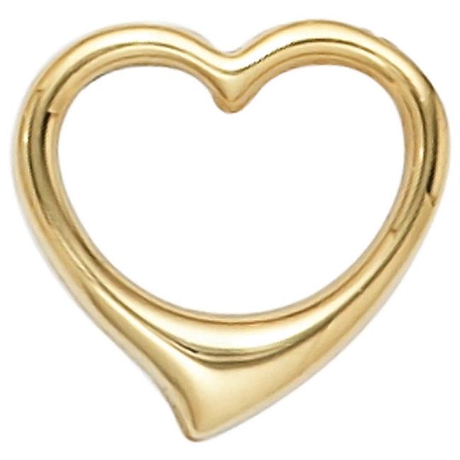 Gold pendant Heart 14 carat gold