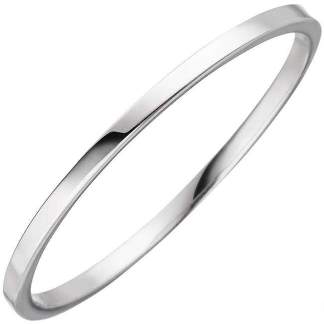 Fine gold ring for women in 8 carat (333) white gold