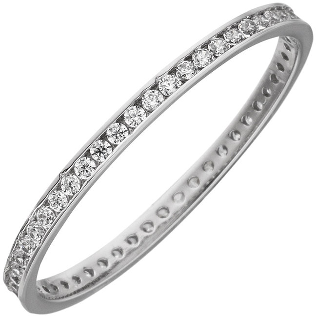White gold ring with zirconia all round 8 carat (333)