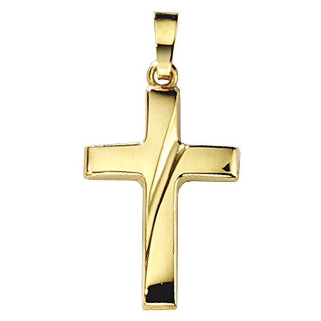 Aurora Patina Goldanhänger Kreuz