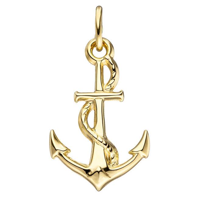 Golden pendant (333) Anchor
