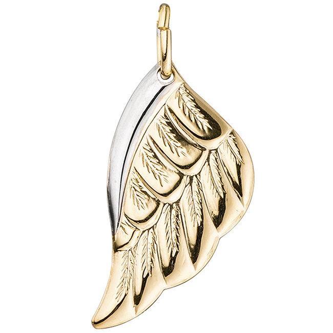 Golden pendant angels wing 8 carat